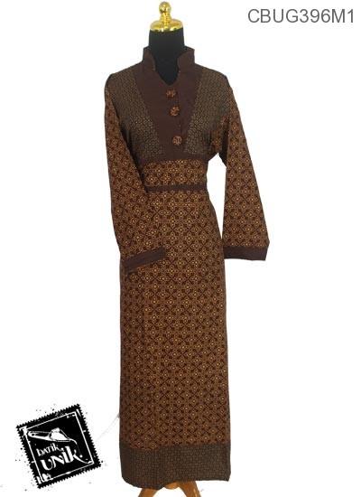 Gamis Batik Motif Capocino Tumpal