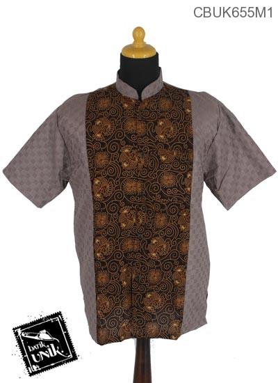 Koko Batik Terbaru  Motif Capocino Coklat