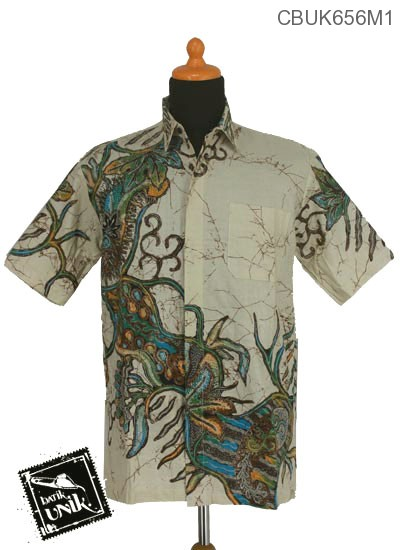 Baju Batik Kemeja Motif Tunas Anggrek