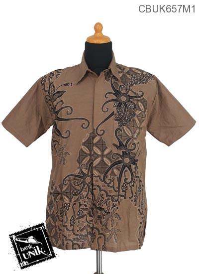 Baju Batik Terbaru  Kemeja Motif Gurita Kawung