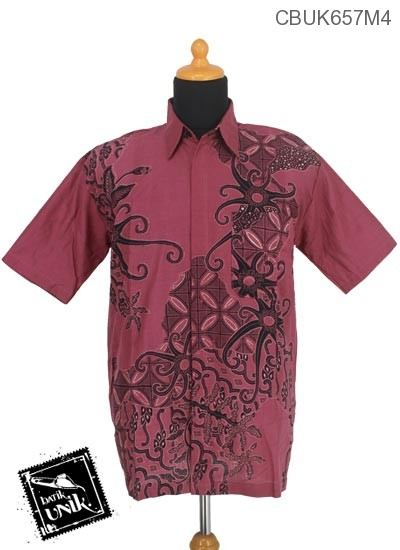 Baju Batik Kemeja Motif Gurita Kawung