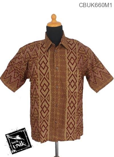 Baju Batik Terbaru  Kemeja Motif Baris Glombang