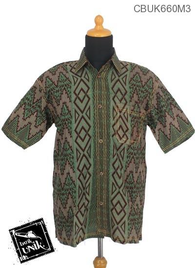 Baju Batik Kemeja Motif Baris Glombang