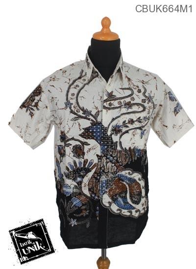 Baju Batik Terbaru  Kemeja Motif Kembang Ceplok Runcing Pastel