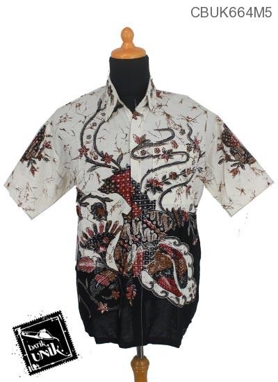 Baju Batik Kemeja Motif Kembang Ceplok Runcing Pastel