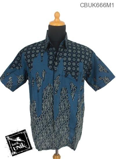 Baju Batik Terbaru  Kemeja Motif Teruntum Parang Gores