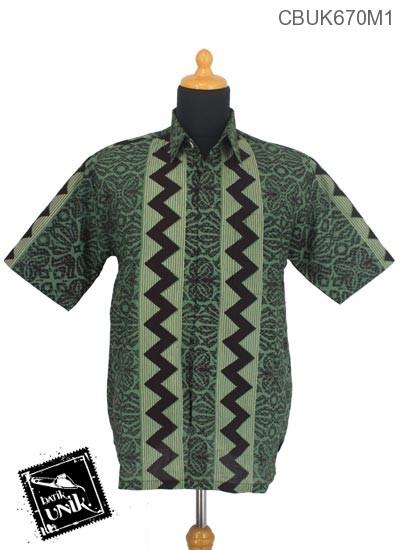 Kemeja Batik Terbaru  Katun Motif Liris Kembang Manik