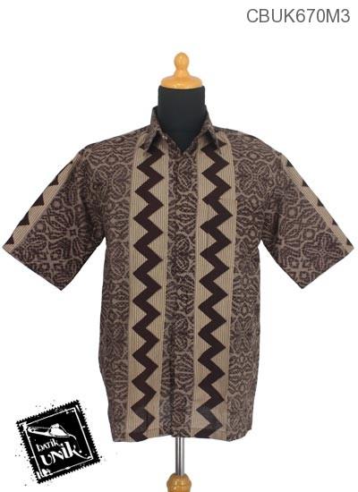 Kemeja Batik Katun Motif Liris Kembang Manik