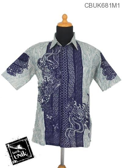 Baju Batik Terbaru  Kemeja Motif Serat Kayu Parang
