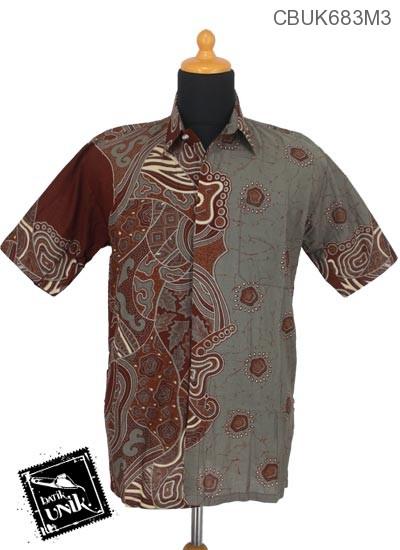 Baju Batik Kemeja Motif Wadah Godhong Abstrak