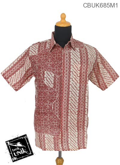 Kemeja Batik Terbaru  Katun Motif Parang Ceplok