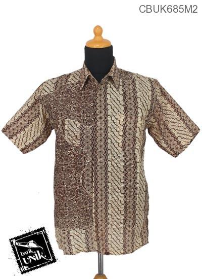 Kemeja Batik Katun Motif Parang Ceplok