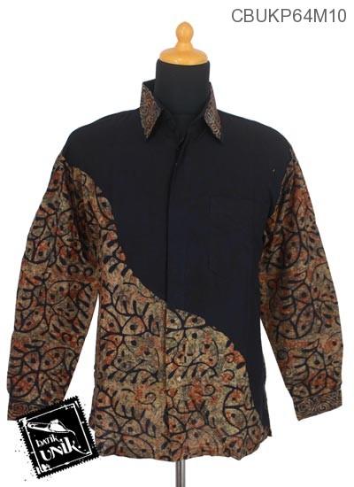 Baju Batik Kemeja Panjang Katun Motif Abstrak Paroan
