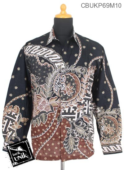 Baju Batik Kemeja Panjang Motif Godhong Buntel Banji