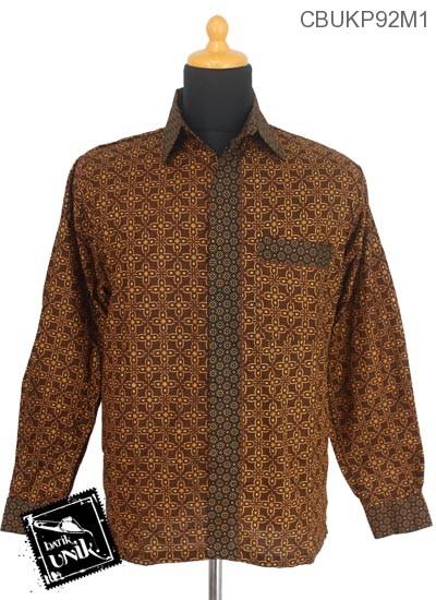 Baju Batik Terbaru  Kemeja Panjang Katun Motif Capocino Tumpal