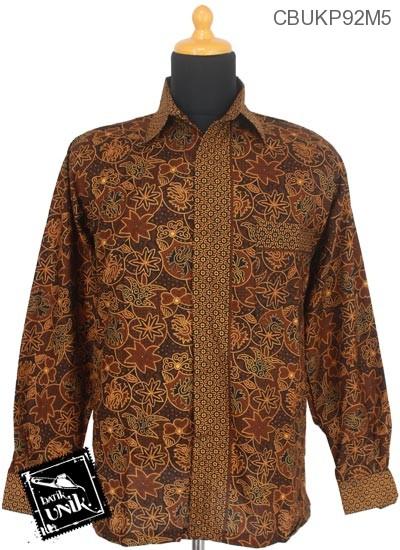Baju Batik Kemeja Panjang Katun Motif Capocino Tumpal