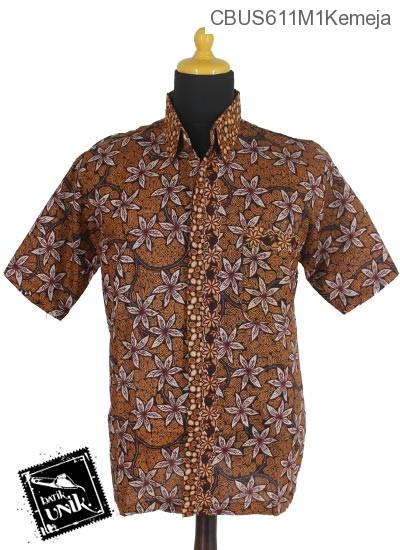 Baju Batik Sarimbit Kemeja Motif Kembang Regolan Tumpal