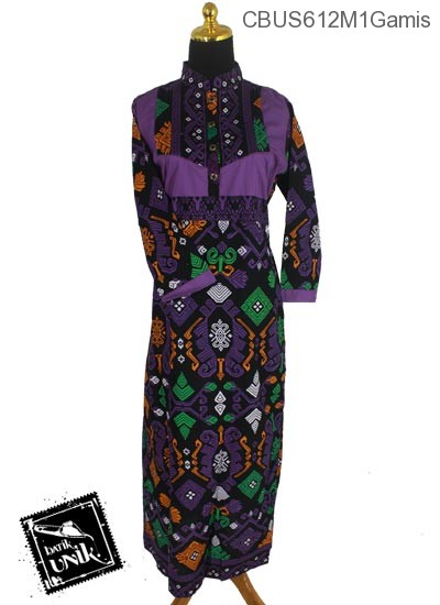 Baju Batik Terbaru  Sarimbit Gamis Motif Kalimatan
