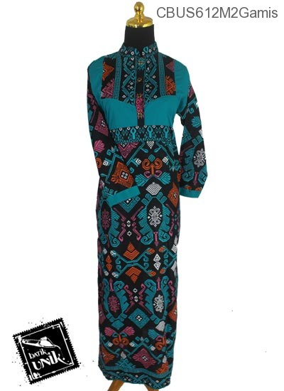Baju Batik Sarimbit Gamis Motif Kalimatan Gamis Batik