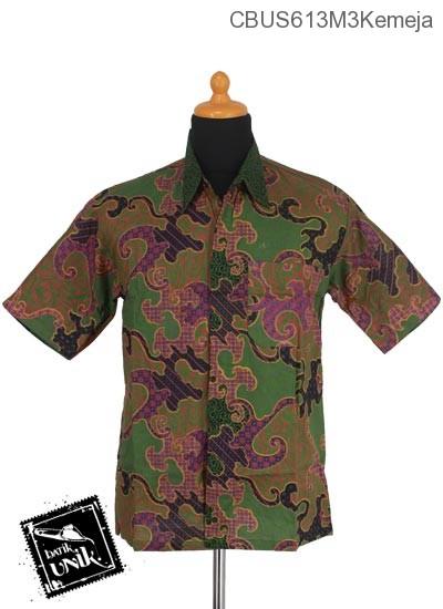 Baju Batik Sarimbit Kemeja Katun Motif Jagad Krokot