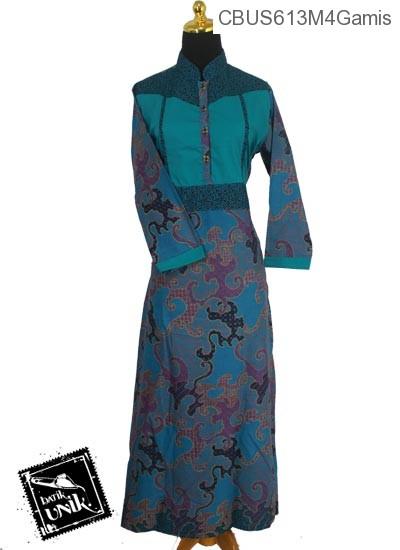 Baju Batik Sarimbit Gamis Katun Motif Jagad Krokot Gamis