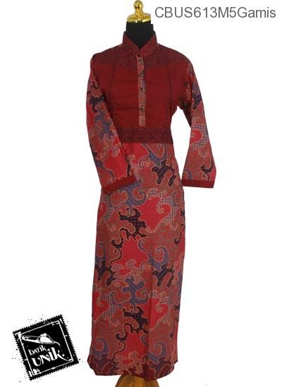 Baju Batik Sarimbit Gamis Katun Motif Jagad Krokot