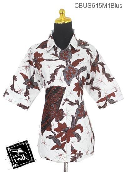 Baju Batik Sarimbit Blus Motif Salur Kipas