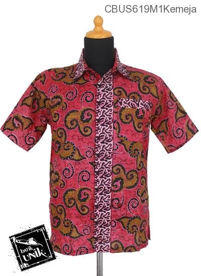 Baju Batik Terbaru  Sarimbit Kemeja Motif Megamendung Abstrak