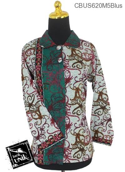 Baju Batik Sarimbit Blus Katun Motif Cumi Cumi Tumpal