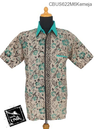 Baju Batik Sarimbit Kemeja Motif Godhongan Tumpal