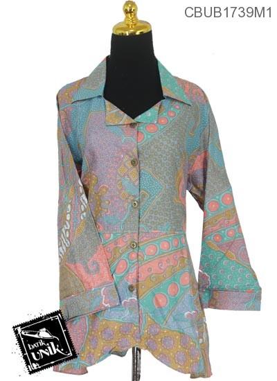Blus Batik Terbaru  Panjang Soft Motif Kotemporer Gordon