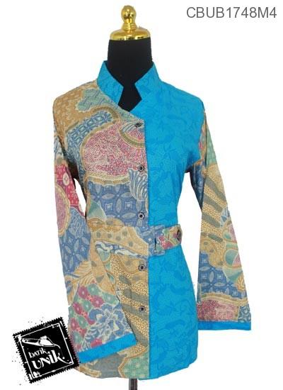 Blus Batik Panjang Motif Kupu Sekar Jagad