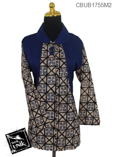 Blus Batik Panjang Pekalongan Motif Sekar Daun
