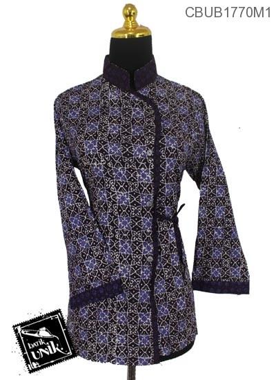 Baju Batik Blus Panjang Katun Motif Parang Kembang Kawung