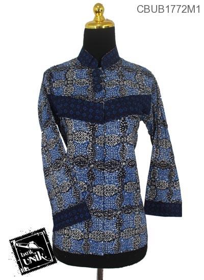 Blus Batik Panjang Pekalongan Motif Parang Kembang Kawung