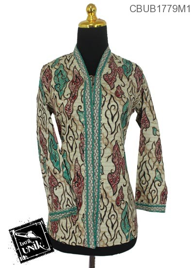 Baju Batik Blus Panjang Motif Mega Mendung Warna Blus
