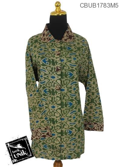 Blus Batik Panjang Jumbo Motif Asmat Etnik