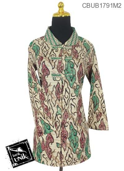 Baju Batik Blus Panjang Pekalongan Motif Mega Mendung Warna