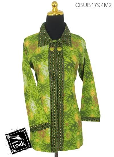 Baju Batik Blus Panjang Motif Ubur-Ubur Abstrak