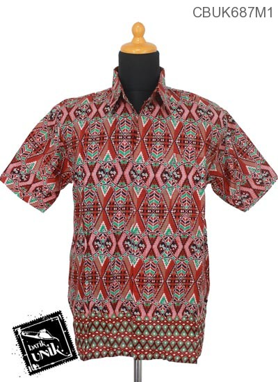 Kemeja Batik Pekalongan Motif Rang Rang Cemoro