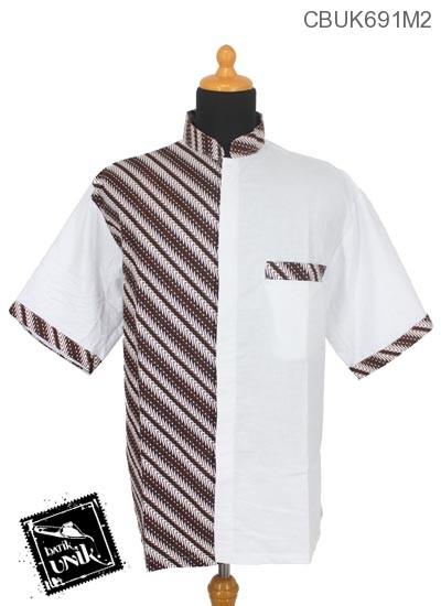 Baju Batik Kemeja Koko Motif Parang Pancing