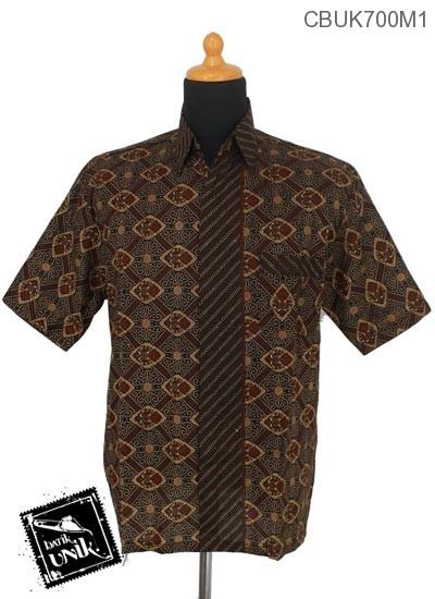 Baju Batik Terbaru  Kemeja Motif Capocino Modern