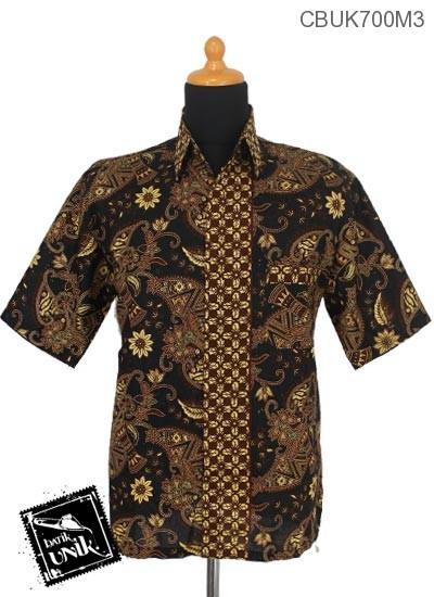 Baju Batik Kemeja Motif Capocino Modern
