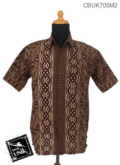 Baju Batik Kemeja Motif Zig Zag Ulir
