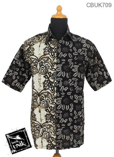 Baju Batik Kemeja Katun Motif Irengan Godhong Kupu