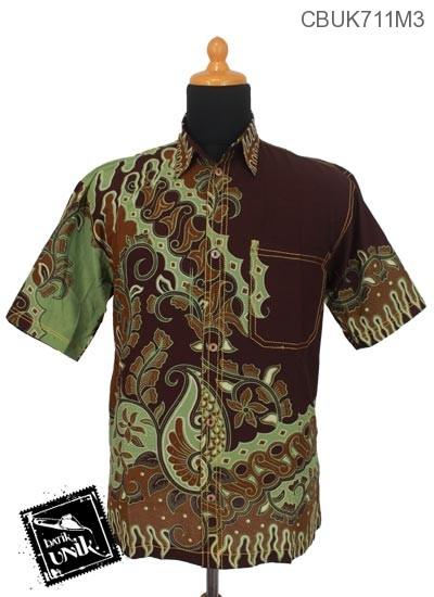 Baju Batik Kemeja Smok Katun Motif Parang Geni Kembang Alas