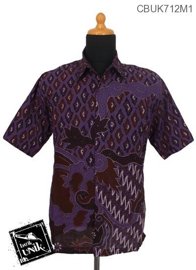 Baju Batik Kemeja Motif Parang Kobar Mega Mendung