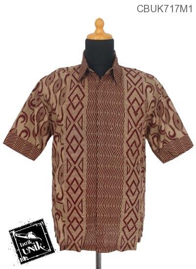 Kemeja Batik Terbaru  Pekalongan Motif Zig Zag Alir