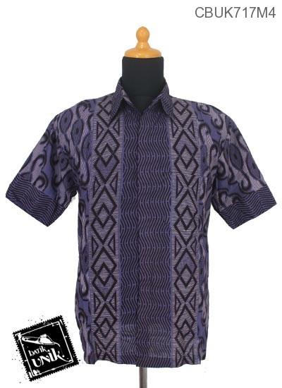 Kemeja Batik Pekalongan Motif Zig Zag Alir