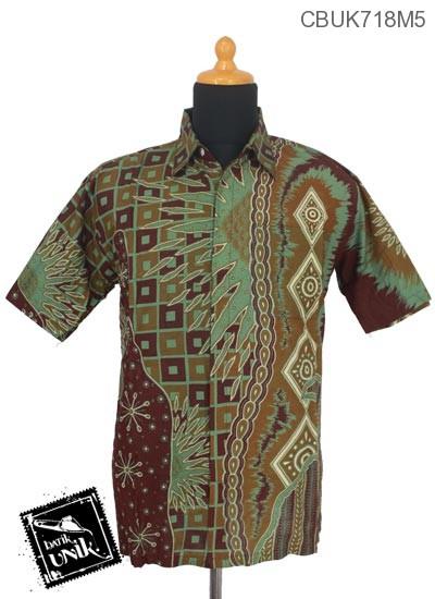 Baju Batik Kemeja Motif Surya Tenggelam